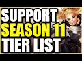 SUPPORT SEASON 11 TIER LIST -- THE *BEST* CHAMPIONS TO PLAY AS SUPPORT ON PATCH 11.1!