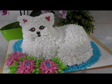 Мастер-класс украшения 3д торта в виде кошки
