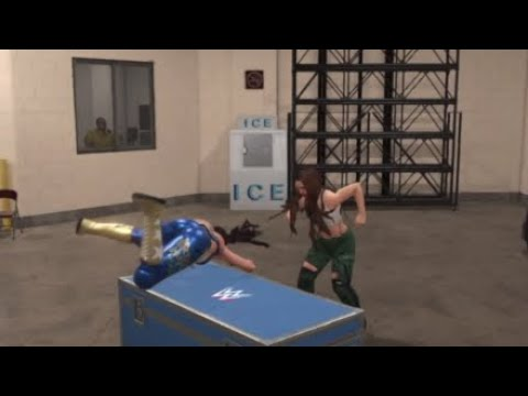 WWE 2K19 RAW BECKY LYNCH VS RONDA ROUSEY + 4 HORSEWOMEN WWE / UFC BACKSTAGE BRAWL