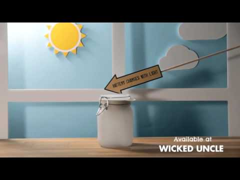 Youtube Video for Sun Jar - Solar Lamp that stores Sunshine