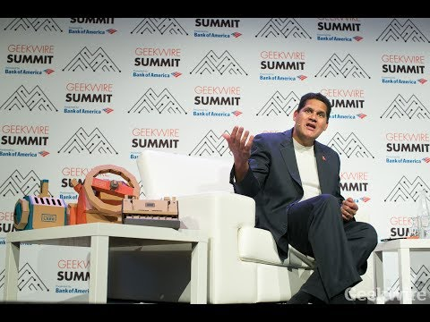 Nintendo of America President Reggie Fils-Aimé at the GeekWire Summit