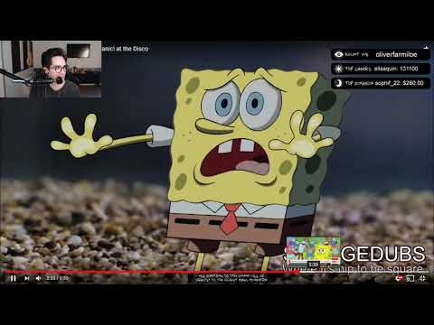 Brendon Urie reacts to SpongeBob singing High Hopes