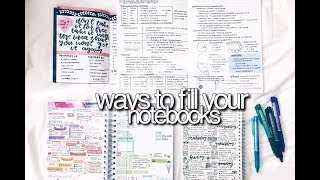 Ways To Fill Your Notebooks    revisign