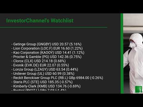 InvestorChannel's Disinfection Watchlist Update for Tuesda ... Thumbnail