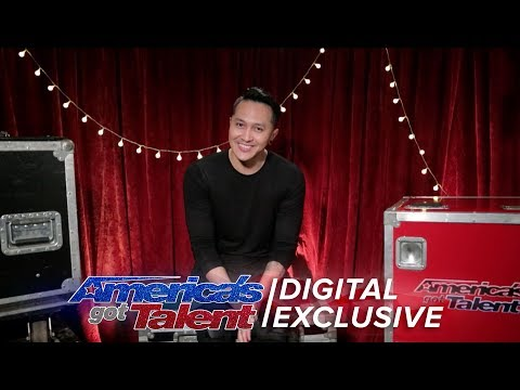 Demian Aditya Talks About His Nerves Before Death-Defying Stunt - America's Got Talent 2017 (видео)