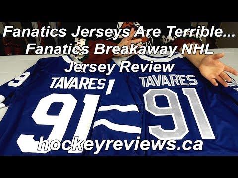 Fanatics Breakaway Customized NHL Replica Jersey Review