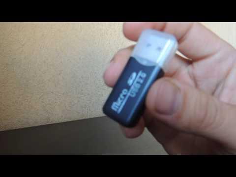 Мини-картридер для карт памяти microSD/microSDHC