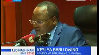 Kesi Ya Babu Owino: Ushindi wa Owino ulipingwa na mpinzani wake Mureithi ,mahakama kutoa uamuzi leo