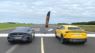 DRAG RACE! BMW M8 VS LAMBORGHINI URUS!