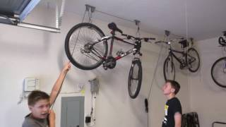 How to use Racor PBH-1R ceiling mounted bike lift