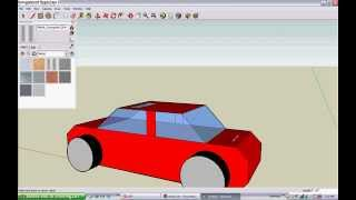 Google sketchup tutorial building a car from blueprints most how to make a car in google sketchup malvernweather Choice Image
