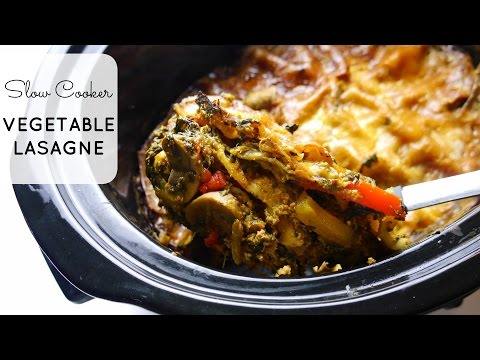 {Recipe} Slow Cooker Vegetable Lasagne