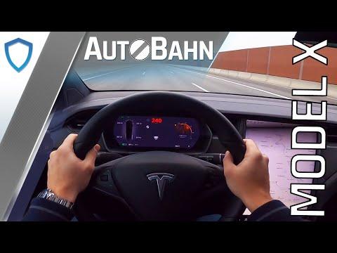 AutoBahn - Tesla Model X Long Range (2020) - POV drive | 100-200 km/h | Top speed