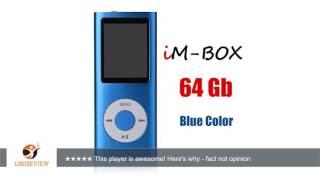 IM-BOX 64 Gb Mini Usb Port Slim Small Multi-lingual Selection 1.8 LCD Portable MP3/MP4, MP3Player ,