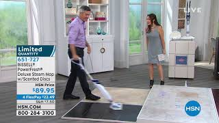 BISSELL PowerFresh Deluxe Steam Mop with Scented Discs