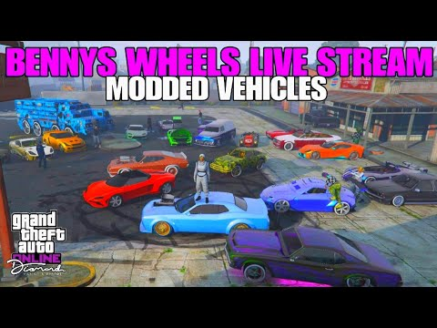 **BENNYS WHEELS**CAR SHOW**LIVE STREAM**MODDED VEHICLES ONLY**GTA 5 ONLINE