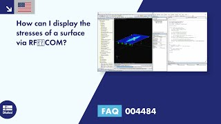 FAQ 004484 | How can I display the stresses of a surface via RF‑COM?