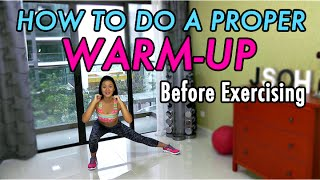 How to do a Proper WARM-UP Before Exercising (5-minute Bodyweight Routine) by Joanna Soh Official