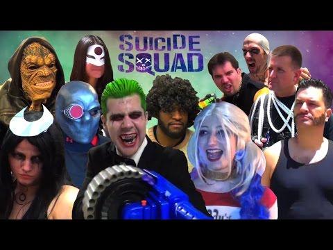 SUICIDE SQUAD PARODY! (NSFW) DC Spoof Harley Quinn Joker Batman Deadshot Killer Croc