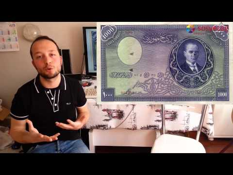 Türkiye'nin en değerli parası   ilk 1000 tl Banknot