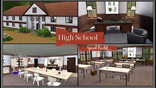 Sims 3 Speed Build || High School