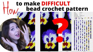 Difficult Bead Crochet Pattern In Jbead Software | How To Make Bead Crochet Pattern