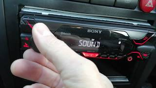 Sony DSX-A410 car radio,fitters review & general install guide