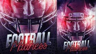 Creative American Football Sport Poster Photoshop Tutorial