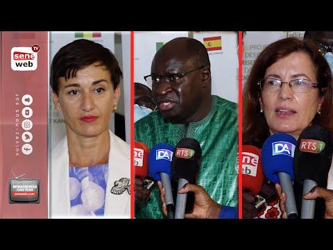 Les interviews de l'Ambassadrice de l'Union européenne au Sénégal, Mme Irène Mingasson, de l'Ambassadrice du Royaume d'Espagne au Sénégal, Mme Olga Cabarga