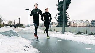 Смотреть онлайн В чем бегать зимой по улице