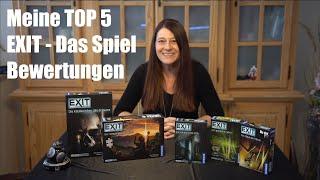 """Meine Top 5 aus der Reihe """"Exit- Das Spiel"""" - Kurzvorstellung - Bewertung"""