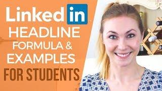 Linkedin Headline for STUDENTS! Hulu, Google, Netflix Recruiters APPROVE