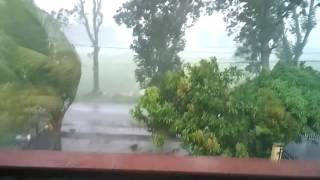 Hujan Angin Di Cebongan Sleman DI Yogyakarta  Sore 4 Pm 5 Januari 2017