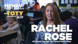 Rachel Rose - Mt. Carmel ES - 2018 HCS TOTY Finalist