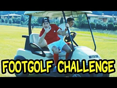 FOOTGOLF CHALLENGE !! DAB IN CADDY & SFIDA A GOLF CON IL PALLONE DA CALCIO - Dexter Vs Sodin
