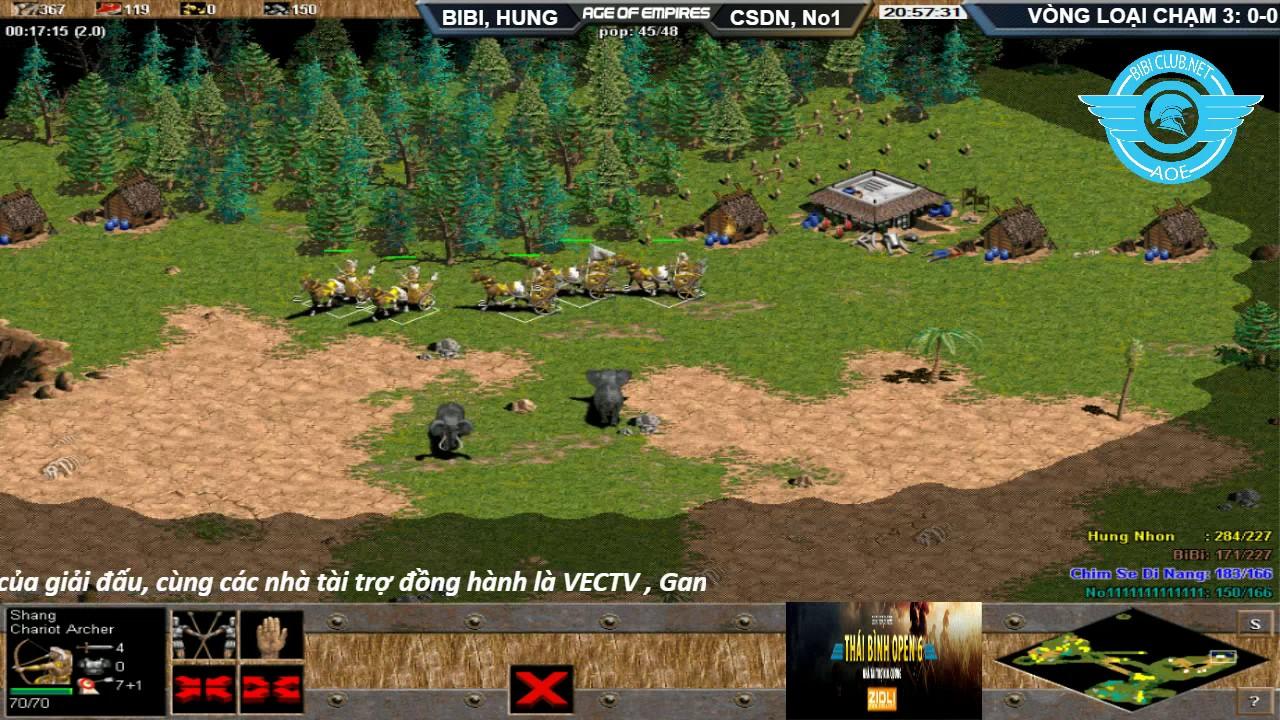 AOE Thái Bình Open 6 | 2vs2 Shang Thuần Tiễn | Vòng Bảng BiBiClub vs GameTV 1 .BLV: Toạc