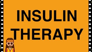 Pharmacology- Insulin therapy Type 1 Diabetes MADE EASY!