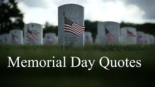 Memorial Day Quotes & Sayings, Thank You Messages Remembrance