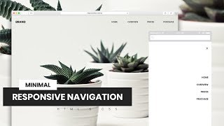Minimal Responsive Navigation | HTML & CSS