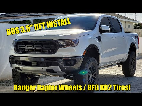 "2019 Ford Ranger - BDS 3.5"" Lift Install with Ranger Raptor Wheels and BFG KO2s"