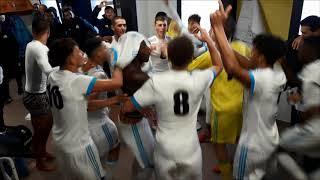 La joie des U19 de l'OM qualifiés en Coupe Gambardella face à Nice (Marseille)
