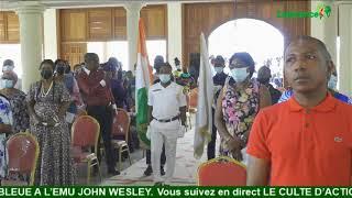 LE CULTE D'ACTION DE GRACE DES 90 ANS DE LA CROIX BLEUE A L'EMU JOHN WESLEY