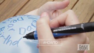 How-to Tuesday: Write a message on a balloon