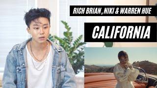 Rich Brian, NIKI, & Warren Hue - California (Official Music Video) REACTION