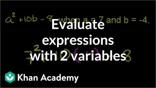 Evaluating Expressions with Two Variables
