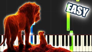 Can You Feel The Love Tonight - The Lion King 2019   EASY PIANO TUTORIAL + SHEET MUSIC by Betacustic