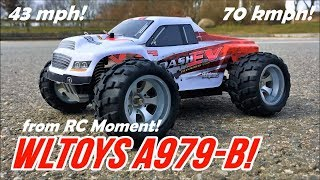 WLToys A979-B Monster! Fast! High Speed 70 kmph/43 mph 1/18 4WD RC Monster Truck from RCMoment!