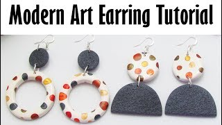 Polymer Clay Project Tutorial: Modern Art Earring Tutorial