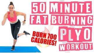 50 Minute At Home Fat Burning Plyo Workout 🔥Burn 700 Calories! 🔥