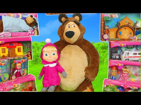 Masha and the Bear Toys: Dolls & Masha's Playhouse Toy Play Surprise for Kids